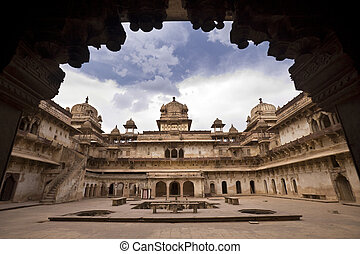 Jahangiri Mahal - Orchha - India - The Jahangiri Mahal in...