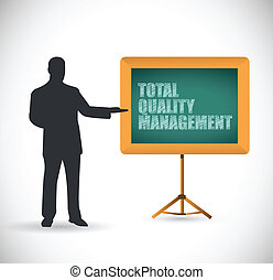 presentation total quality management illustration design...