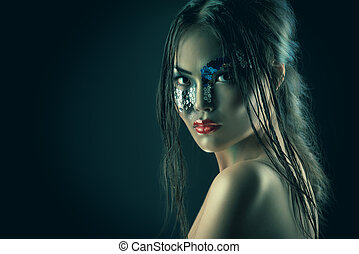 asian model - Portrait of an asian model with fantasy...