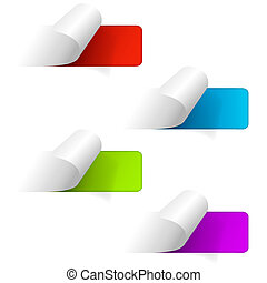 Set of multicolored sticker labels Web icons Vector eps10...
