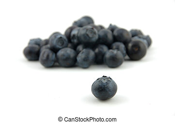 Blueberry stand out in isolated white