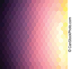 Twilight Grid - Vector hexagon pattern background with...
