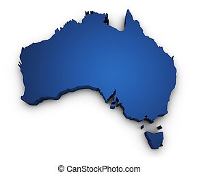 Map Of Australia 3d Shape - Shape 3d of Australian map...