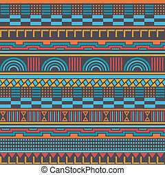 Seamless geometric retro pattern - Abstract seamless pattern...
