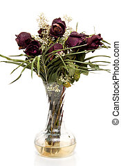 Dead Roses - A bouquet of less than fresh dead roses.