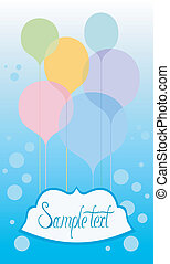 Celebration card with balloons