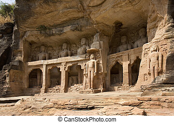 Gwalior Sculptures - India - 7th century Jain sculptures...