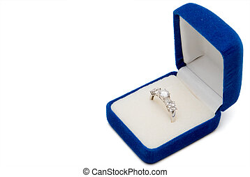 Wedding Ring - A wedding ring in a jewelers box.