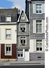 Narrow House - A small house in a row buildings in Malmedy,...