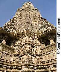 Khajuraho - Madhya Pradesh - India - The main Shikhara of...