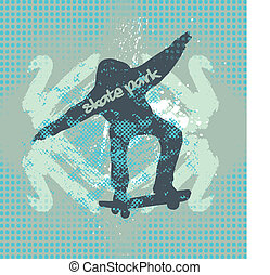 urban skate spirit vector art