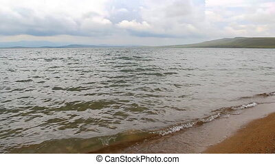Itkul big lake in Khakassia reserve Khakasskiy
