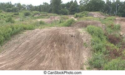 Motocross jump rider