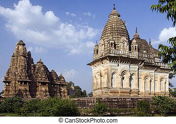 Khajuraho - Madhya Pradesh - India - The finely carved...