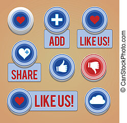 Like and share buttons - EPS10