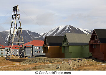 Longyearbyen - Svalbard Islands - The settlement of...