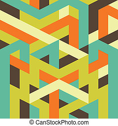 abstract geometric pattern for design - abstract retro...