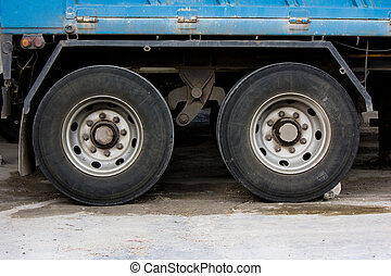 wheel and tire of truck and traile - image of wheel and tire...
