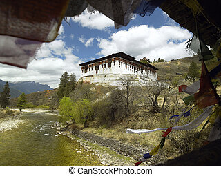 Kingdom of Bhutan - Paro Dzong Buddhist monastery in the...