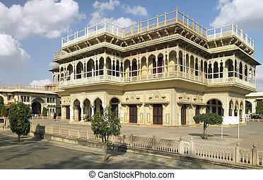 Jaipur - Mubarak Mahal - India - Mubarak Mahal sandstone...