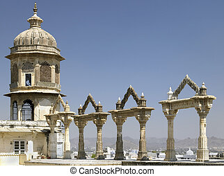 Udaipur City Palace - Rajasthan - India - Archways at the...