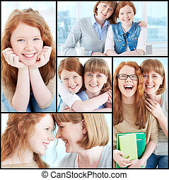 Mother and daughter - Collection of images of lovely girl...