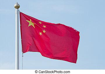 nacional, bandera, chino