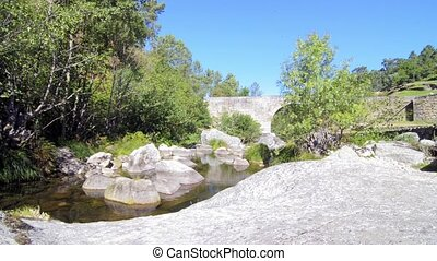 Lagarica bridge - Lagarica medieval granite stone bridge in...