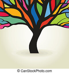 Autumn tree. A vector illustration