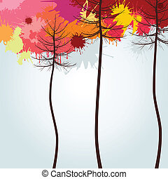 Autumn wood A vector illustration