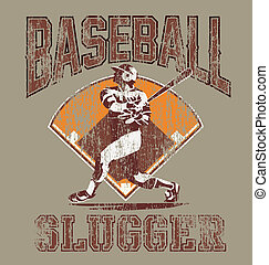 slugger baseball - baseball sport vector for shirt printed...