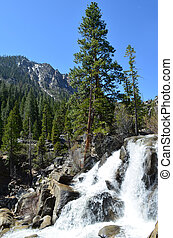 Mountain Waterfall - Waterfall Burnside Creek Grover Hot...