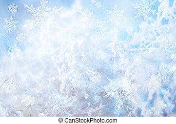 Winter background - Abstract winter background