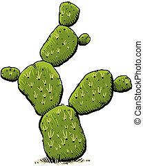 Cartoon Cactus - A green, cartoon cactus with sharp spines.