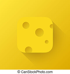 Yellow Cheese App Icon Template - Yellow Cheese app icon...