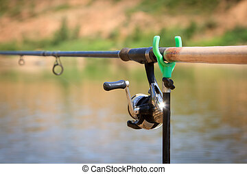 big game fishing reel and rod