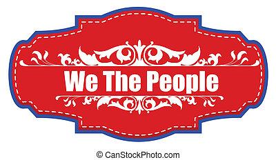 nosotros,  vector, insignia, gente