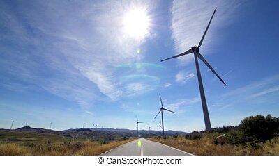 Rotating windmills