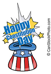 Constitution Day Magic Hat Vector