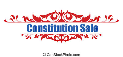 Sale - Constitution Day Banner - Drawing Art of Sale -...