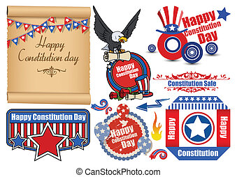 Constitution Day Elements Vectors