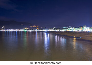 Sestri levante by night - Old village sestri levante with...