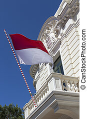 Flag of Monaco - Flag of the Principality of Monaco, a...
