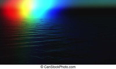 Weird rainbow over sea