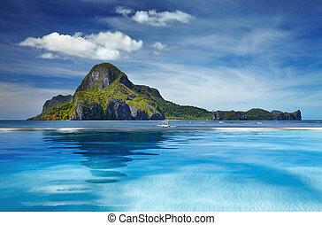 Cadlao, ilha, el, Nido, FILIPINAS