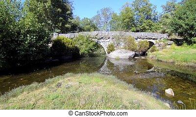 Panchorra bridge - Panchorra old granite stone bridge in...
