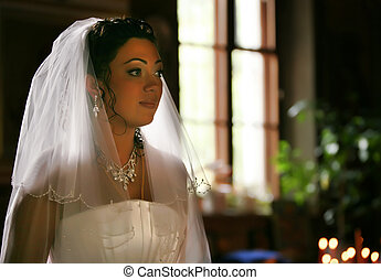 Wedding ceremony - The bride on ceremony of wedding -...