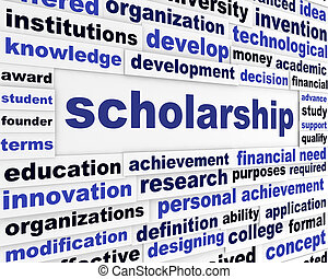 Scholarship conceptual message design. Students financial...