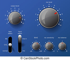 Control panel. - Musical control panel.