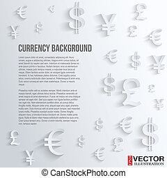 Business background with various currency symbol - Currency...
